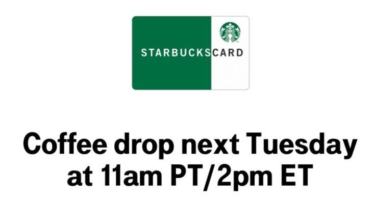 T-Mobile Tuesdays Starbucks