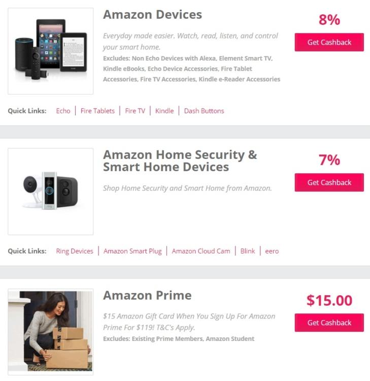 TCB Amazon cashback