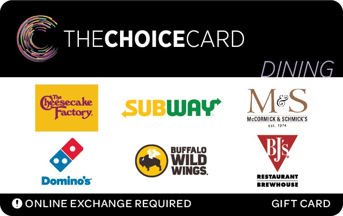 The Choice Gift Card Dining