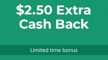 TopCashback $2.50 bonus