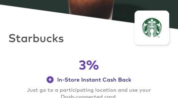 Dosh Starbucks 3%