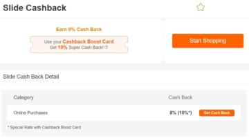 ExtraBux 8-10% Cashback Slide