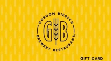 Gordon Biersch Gift Card