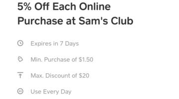 Cash App Sam's Club