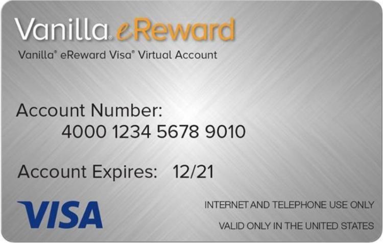 Newegg Vanilla eReward Visa