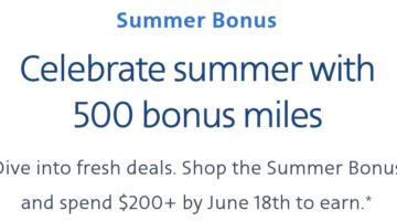 Alaska American shopping portals spend $200 get 500 bonus miles