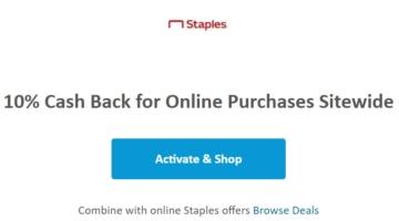 RetailMeNot 10% Staples cashback