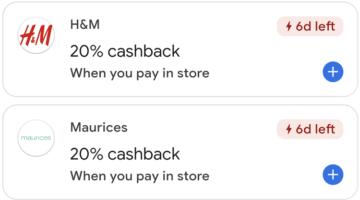 Google Pay 20% cashback