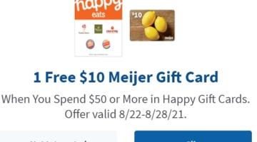 Meijer Happy $50 $10