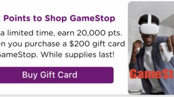 Bitmo GameStop 20,000 bonus points