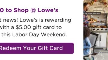 Bitmo Lowe's $5