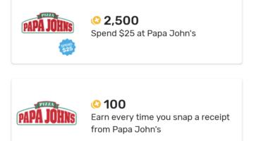 Fetch Rewards Papa John's