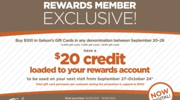 Gelson's gift card deal