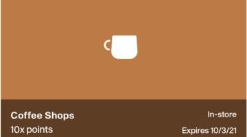 Point Debit Card 10x Coffee Shops