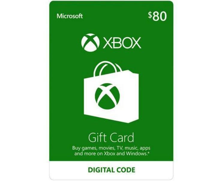 $80 Xbox Gift Card