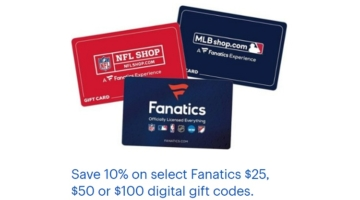 Best Buy 10% Off Fanatics Sports Gift Cards