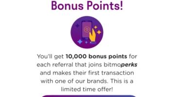 Bitmo 10,000 Perk Points Referral Offer