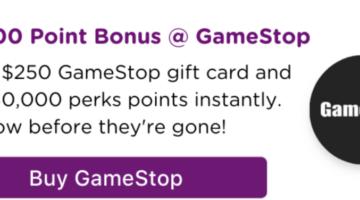 Bitmo $250 GameStop 30,000 Perk Points