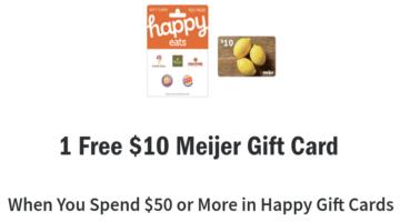 Meijer Happy gift card deal